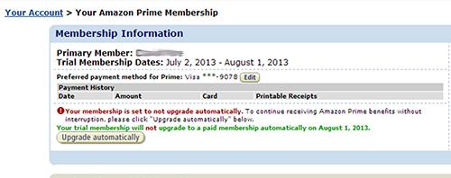 Disable Amazon Prime auto upgrade 03